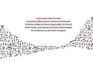 a4 size horizontal music background