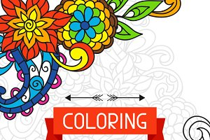 Coloring book design for cover.