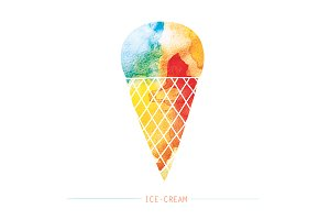 Watercolor Ice-cream