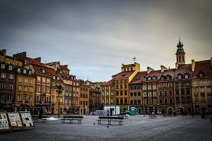 Old square Warsaw (Poland)