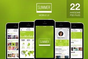 Summer - Flat Mobile Ui Elements