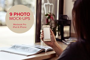 9 photo mock-ups - devices - vol.2