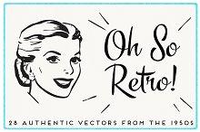 28 Authentic Retro 1950s Vectors