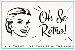 28 Authentic Retro 1950s Vectors