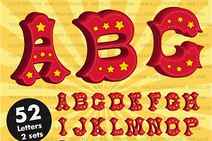 Clipart, Circus Alphabet, AMB-1161