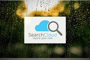 [68% off] Search Cloud - Logo Design