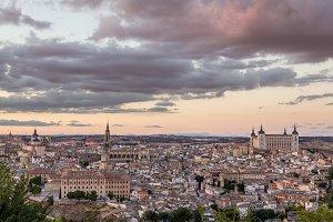 Sunset over Toledo in Spain