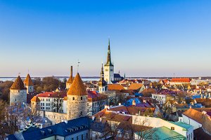 City of Tallinn in Estonia