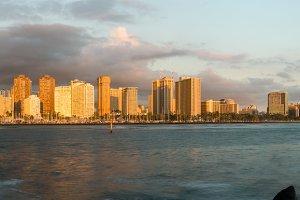 Panorama of Waikiki Hawaii