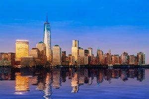 Skyline of Manhattan in New York