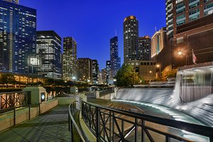 Centennial Fountain in Chicago