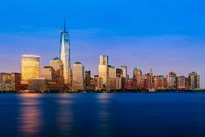 Skyline of lower Manhattan NYC