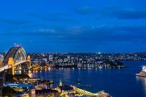 Panorama Sydney Harbour Australia