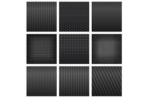 Carbon fiber patterns background