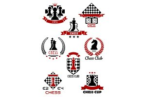 Chess sports game icons