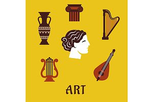 Flat art and musical instruments