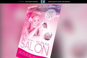 Natural Beauty Salon Flyer Template