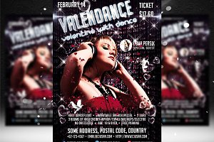 Valendance Flyer Template