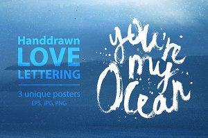 Handdrawn Love Lettering