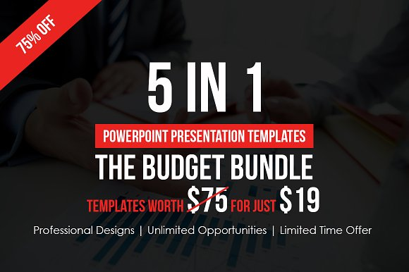5 in 1 budget powerpoint bundle presentation templates creative