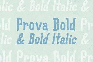 Prova Bold & Bold Italic