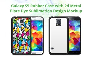 Galaxy S5 2d Rubber Case Mock-up
