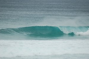 Beach Break Right Hander Stock Photo