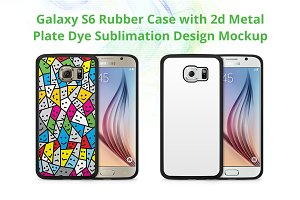Galaxy S6 2d Rubber Case Mock-up