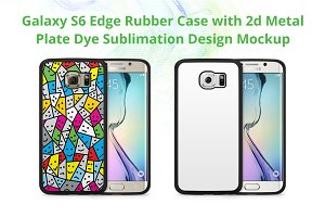 Galaxy S6 Edge 2d Rubber Case Mockup