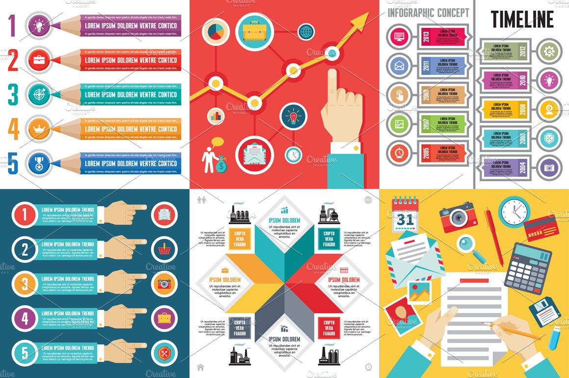 6 infographic business concept presentation templates creative 6 infographic business concept presentation templates creative market cheaphphosting Images