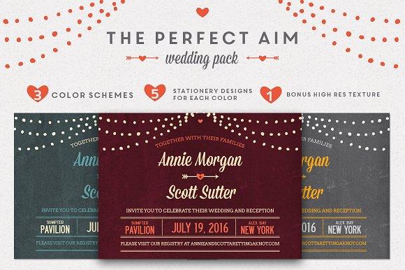 Perfect Wedding Invitations: Perfect Aim Wedding Pack