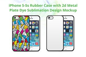 iPhone 5-5s 2d Rubber Case Mock-up