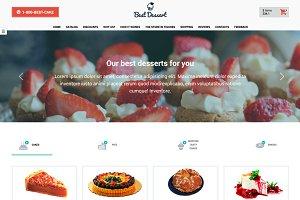 Best Dessert – Landing Page Template