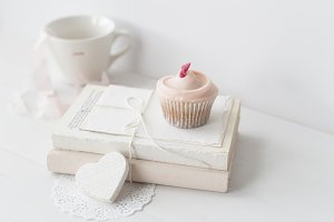 Cupcake on Rustic decor