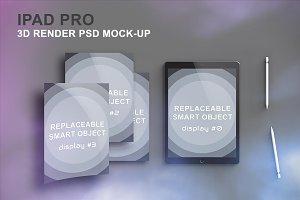 iPad Pro 3D Render Mockup