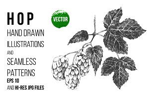hop and seamless patterns