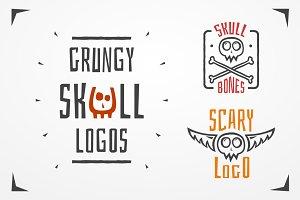 Skull logo set