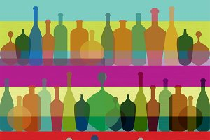 Art background. Wine restaurant conc