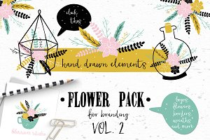 Flower Pack with succulents VOL.2