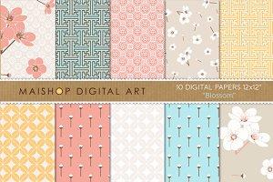 Digital Paper-Blossom