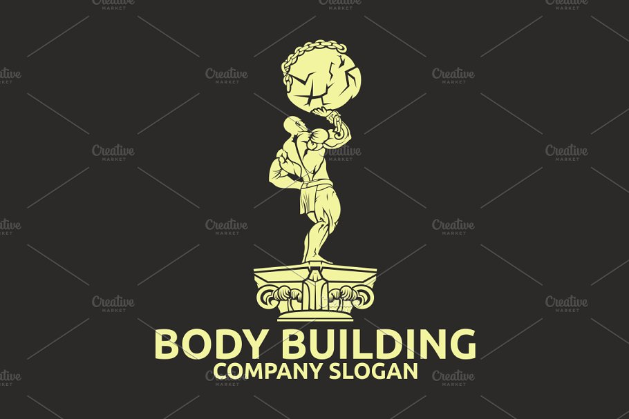 Body Building in Logo Templates - product preview 1