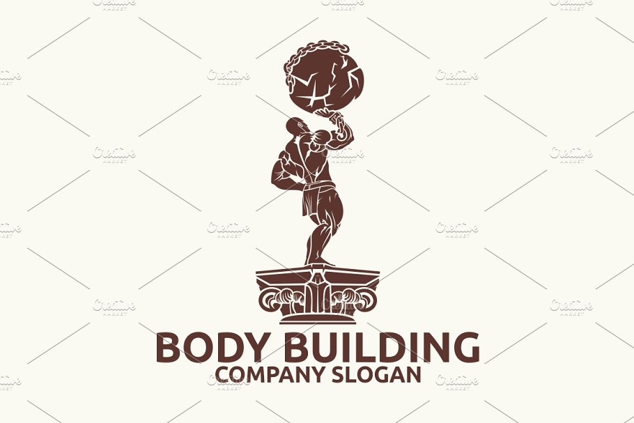 Body Building in Logo Templates - product preview 2