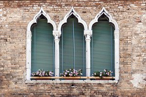 Gothic style window in Venice