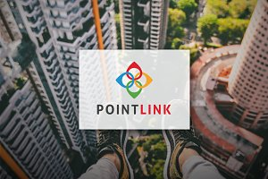[68% off] Point Link - Logo Design