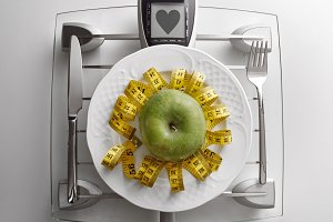 Concept healthy food heart