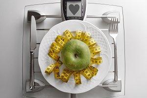 Concept healthy food heart