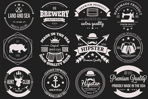 12 Retro Badges and Labels