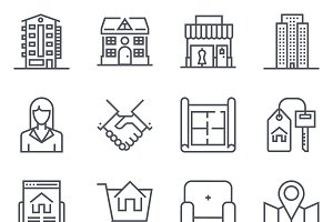 32 Real estate icons