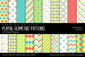 Playful Geometric Digital Papers