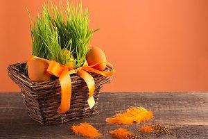 orange easter eggs